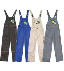 Pantaloni cu pieptar G1361359 (Negru)