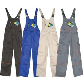 Pantaloni cu pieptar G1361356 (Gri)