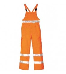 Pantaloni cu pieptar 1361160 (Portocaliu)