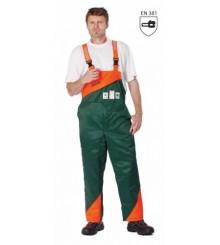 PLUTO pantaloni cu pieptar pentru forestieri